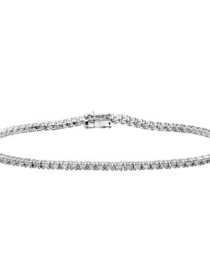 18CT WHITE GOLD 1.00CT DIAMOND TENNIS BRACELET