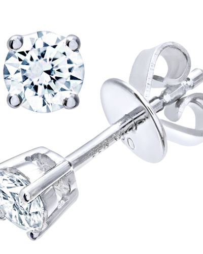 18CT WHITE GOLD 0.33CT DIAMOND SOLITAIRE EARRINGS