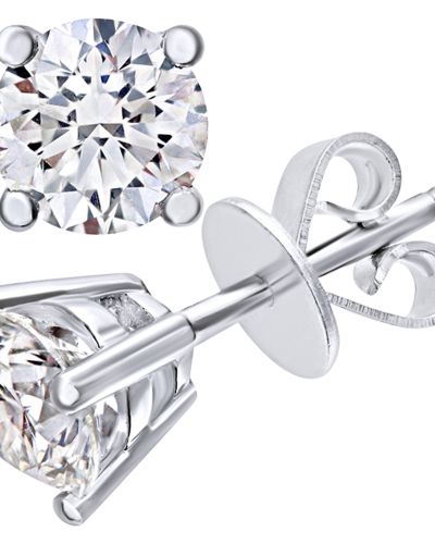 18CT WHITE GOLD 1.00CT DIAMOND SOLITAIRE EARRINGS