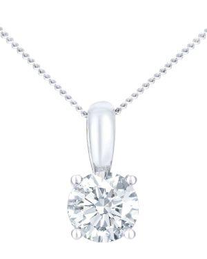 18CT WHITE GOLD 1.00CT DIAMOND SOLITAIRE PENDANT