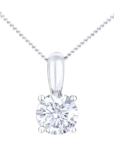 18CT WHITE GOLD 0.50CT DIAMOND SOLITAIRE PENDANT