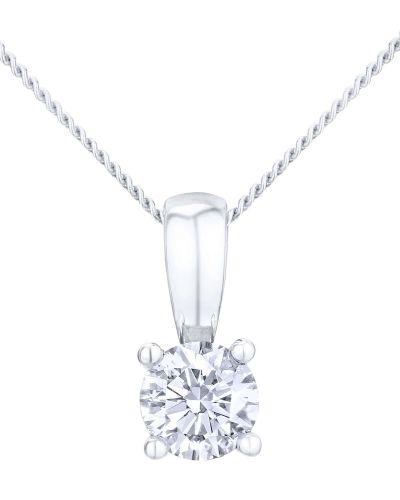18CT WHITE GOLD 0.33CT DIAMOND SOLITAIRE PENDANT