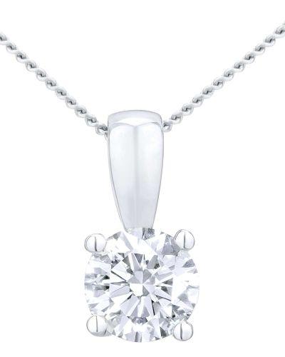 18CT WHITE GOLD 0.75CT DIAMOND SOLITAIRE PENDANT