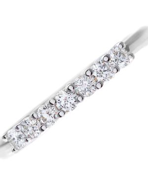 18CT WHITE GOLD 0.33CT DIAMOND 7 STONE 1/2 ETERNITY RING