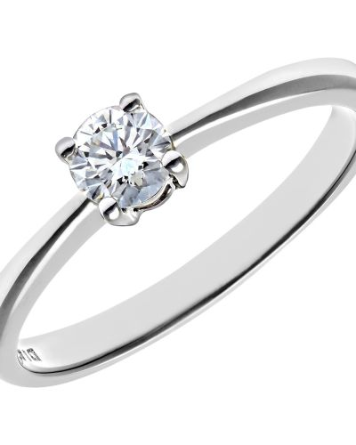 18CT WHITE GOLD 0.25CT DIAMOND SOLITAIRE RING