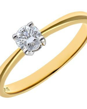 18CT YELLOW GOLD 0.25CT DIAMOND SOLITAIRE RING