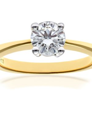 18CT YELLOW GOLD 0.75CT DIAMOND SOLITAIRE RING