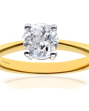 18CT YELLOW GOLD 1.00CT DIAMOND SOLITAIRE RING