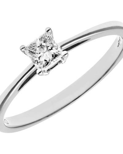 18CT WHITE GOLD 0.25CT DIAMOND PRINCESS CUT RING