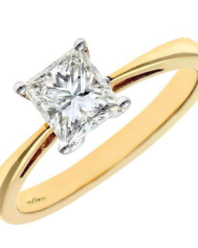 18CT YELLOW GOLD 1.00CT DIAMOND PRINCESS CUT RING