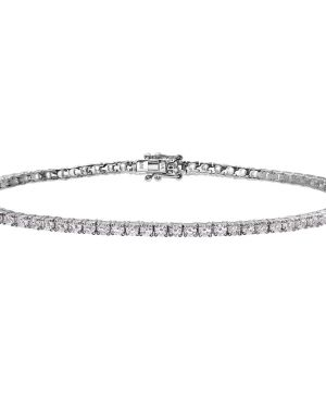18CT WHITE GOLD 3.00CT DIAMOND TENNIS BRACELET